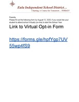 Virtual Learning Opt-In Link