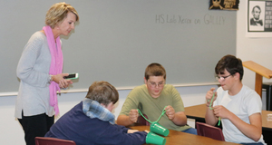 Jennifer Wilson works with 8th grade Careers & Tech students