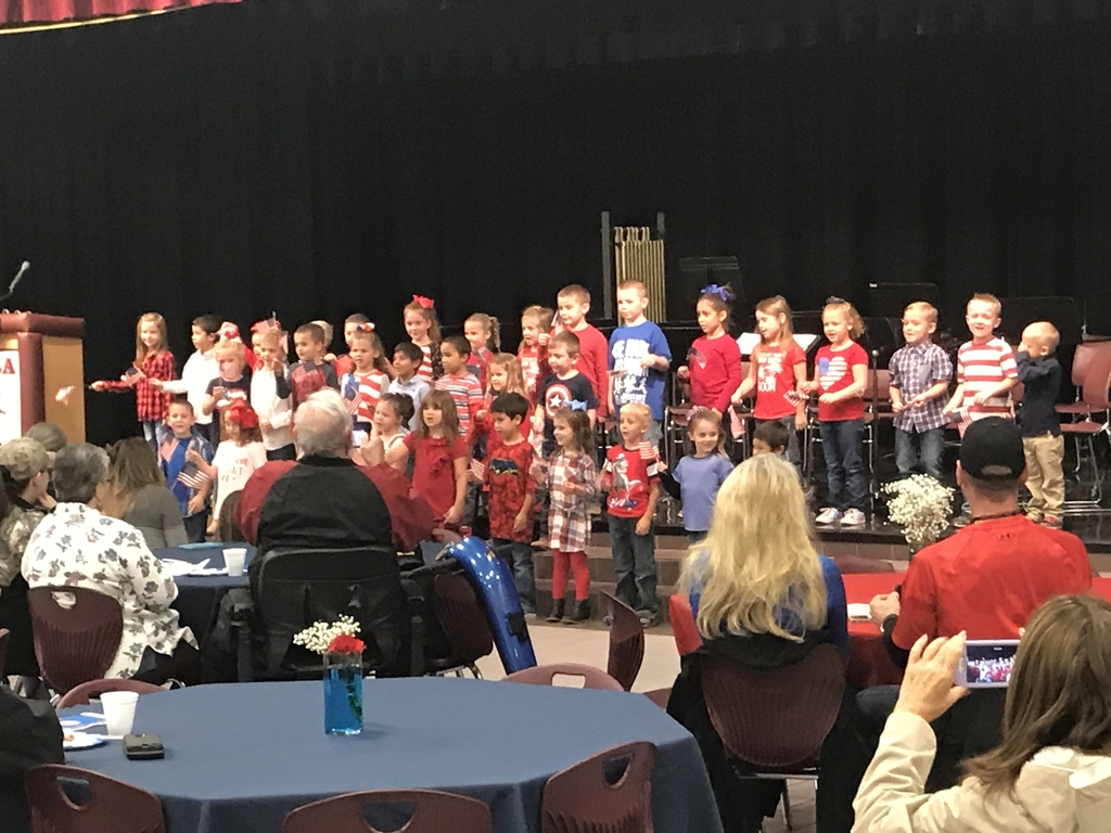 Kindergarten singing Grand Old Flag