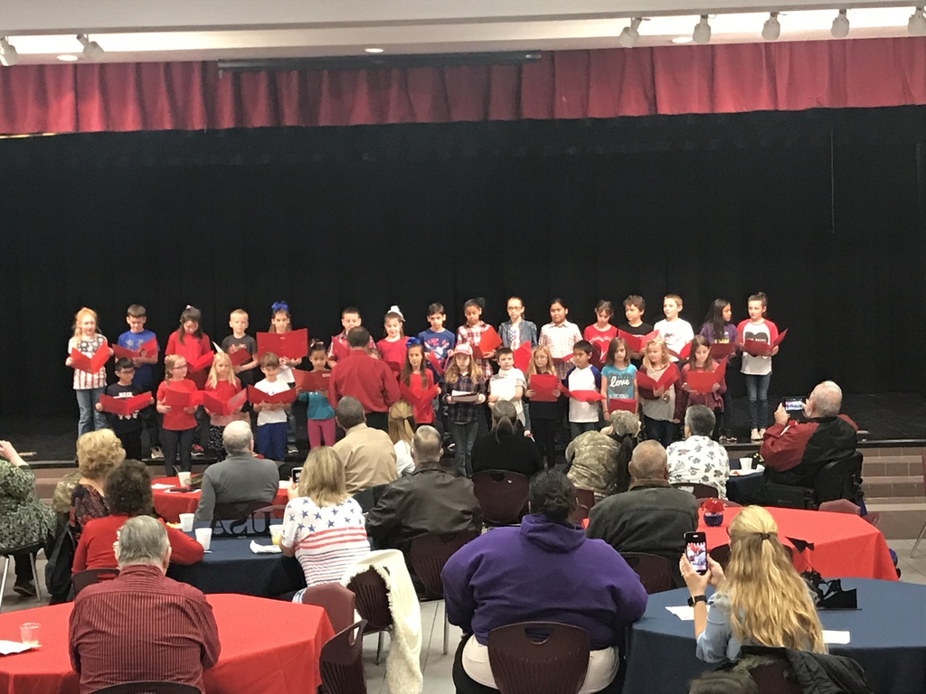 3rd Grade Reading their Veterans Day Program