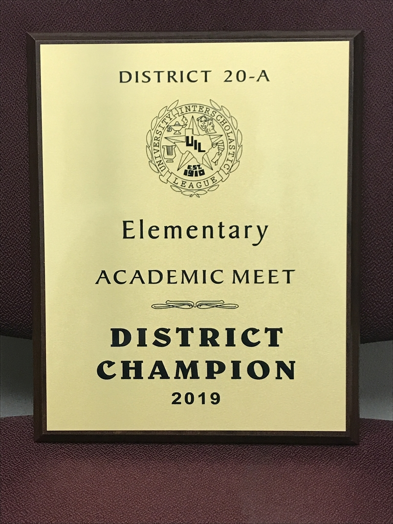 2019 UIL Elementary Academic District Champs