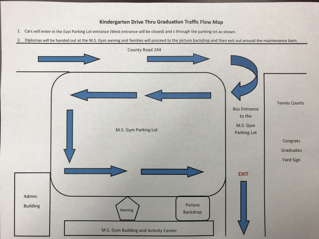Kindergarten Graduation traffic flow map